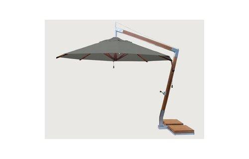 Bambrella parasols Bambrella Parasol Side Wind |Taupe |3x3m