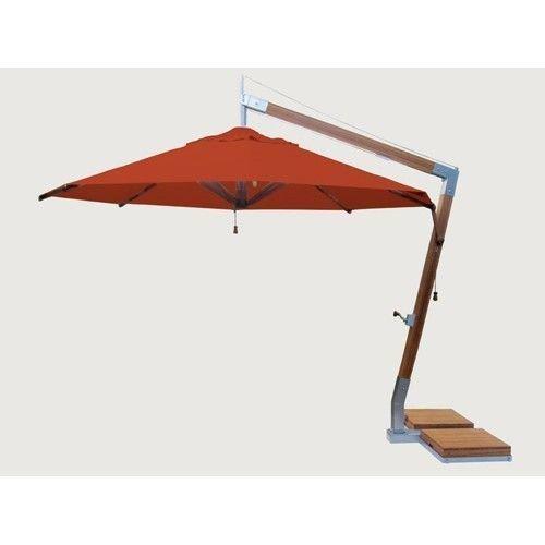 Bambrella parasols Bambrella Parasol Side Wind |Terracotta| 3x3m