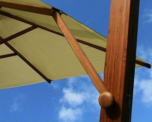 Parasol Side Wind |Zwart| 3x3m