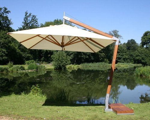 Parasol Side Wind | blauw | 3x3m