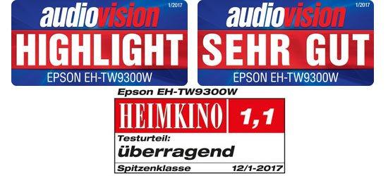 Epson TW9300W  3x ausgzeichnet worden !