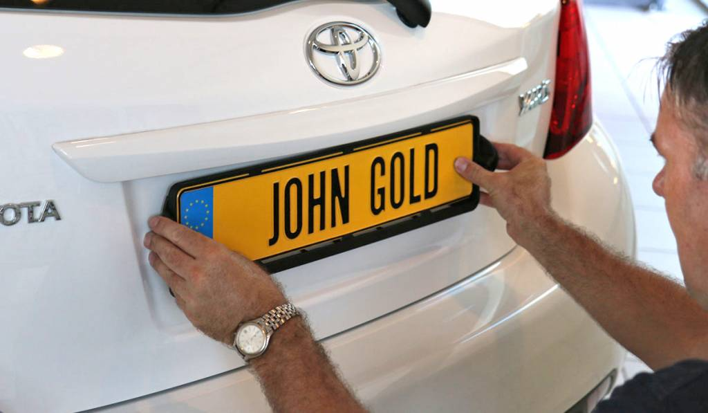 GoldView Kentekenplaat met Parkeersensoren