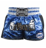 Sandee Sandee Thai Shorts Supernatural Blue & Silver