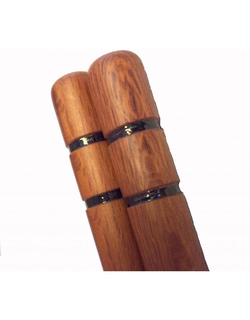 Wooden Nunchaku with 2 Black Grooves