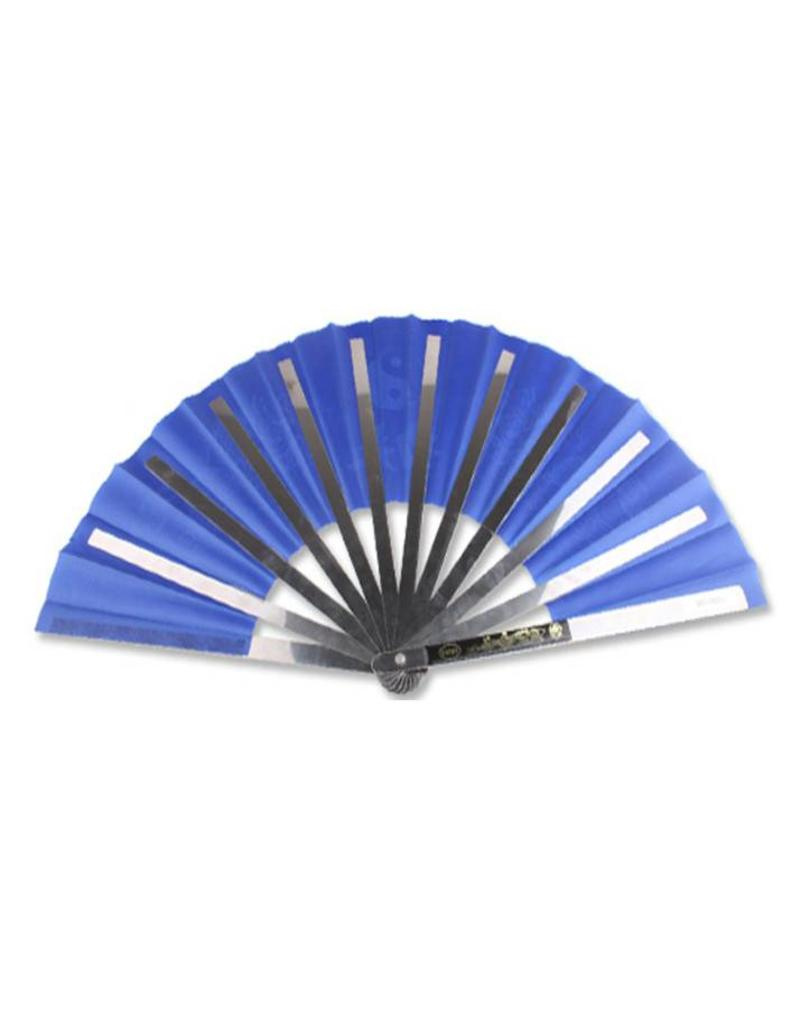 Enso Martial Arts Shop Blue Metal Tai Chi Fan