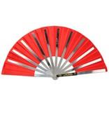 Enso Martial Arts Shop Red Metal Tai Chi Fan