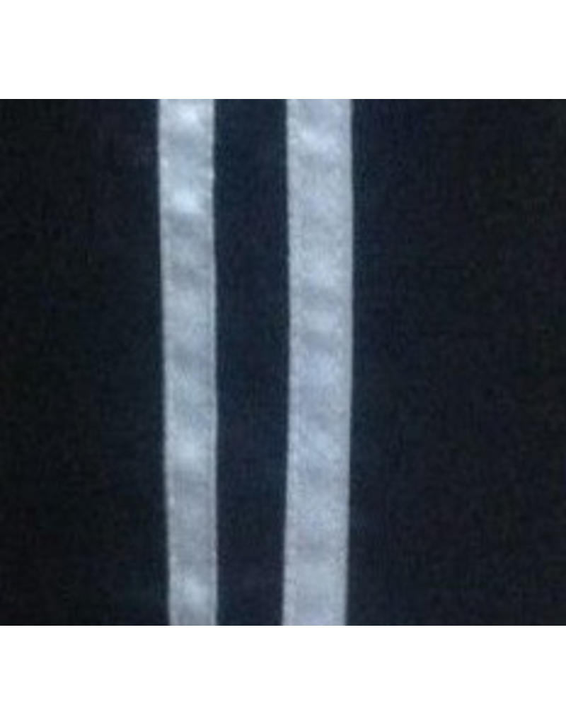Black Kickboxing Trousers Satin with White Stripes