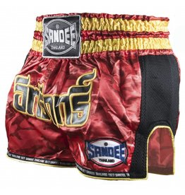 Sandee Sandee Thai Shorts Supernatural Red & Gold