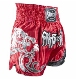 Sandee Sandee Thai Shorts Unbreakable Red & Silver
