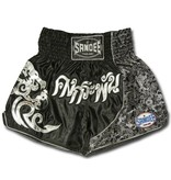 Sandee Sandee Thai Shorts Unbreakable Black & Silver