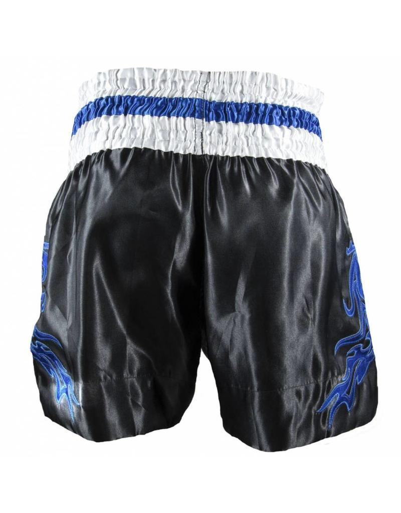 Sandee Sandee Thai Shorts Respect Black and Blue