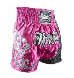 Sandee Sandee Thai Shorts Unbreakable Pink & Silver