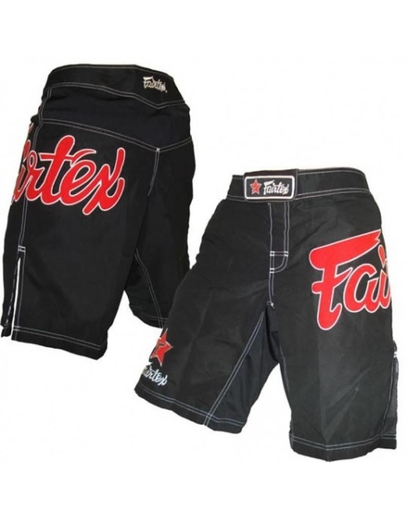 Fairtex Fairfax MMA Shorts Black with Red Logo