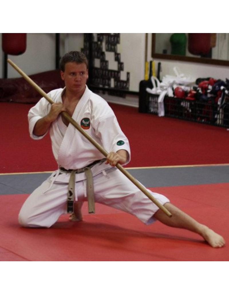 Red Oak Tapered Bo Staff Used By Karate And Korean Styles