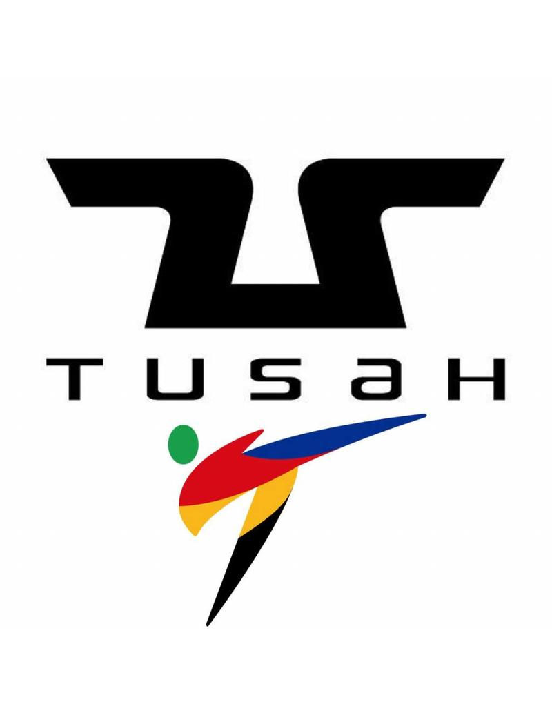 Tusah Tusah Taekwondo Dobok Black Collar WTF Approved