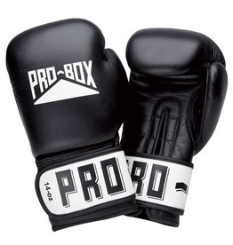 Probox Pro Box Black Leather Boxing Gloves