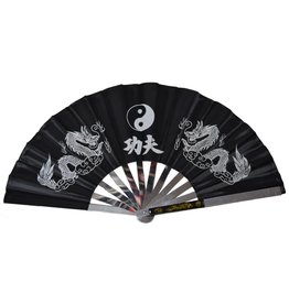 Enso Martial Arts Shop Black Tai Chi Fan - Metal