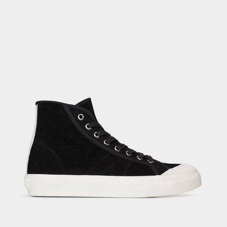 Swish Hi Black Suede