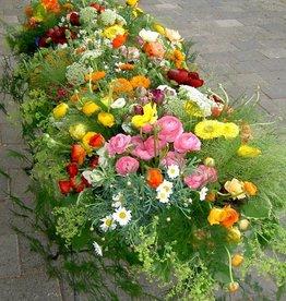 kistbedekking bloemen