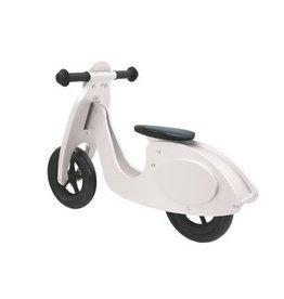 Jamara Loopfiets Houten Scooter Wit/Zwart