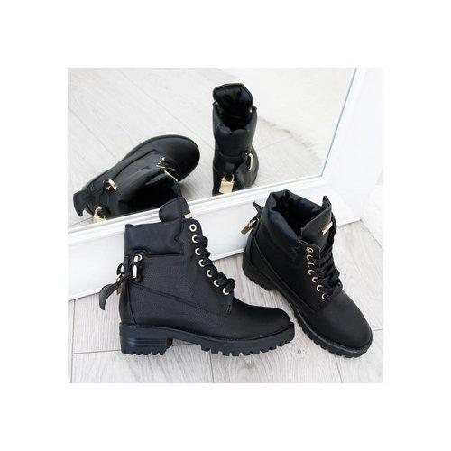 "Boots ""LOCK"" zwart"
