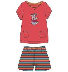 Woody Meisjes-Dames pyjama, grenadine rood