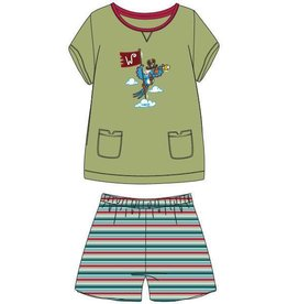 Woody Meisjes-Dames pyjama, limoen groen