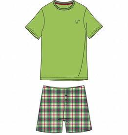 Woody Jongens-Heren pyjama, limoen groen