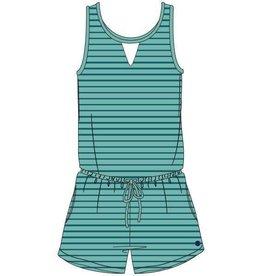 Woody Meisjes-Dames onesie, munt-turquoise gestreept