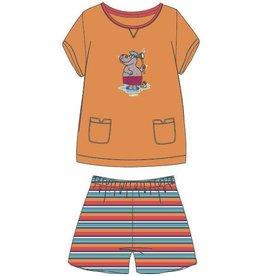 Woody Meisjes-Dames pyjama, oranje