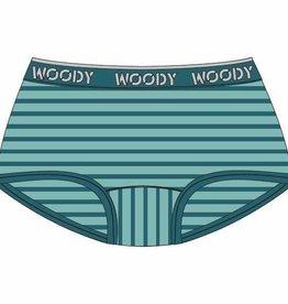 Woody Meisjes short, munt-turquoise gestreept