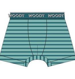 Woody Jongens short, munt-turquoise gestreept