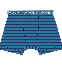 Woody Jongens short, blauw gestreept