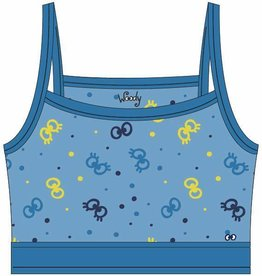 Woody Topje, blauw oogjes all-over print