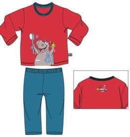 Woody Unisex pyjama, grenadine rood