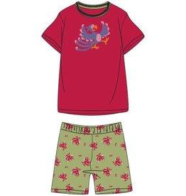 Woody Unisex pyjama, kersenrood