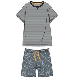 Woody Jongens-Heren pyjama, donker sparrengroen