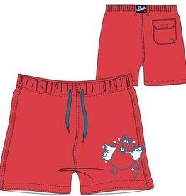 Woody Jongens-Heren zwembroek, grenadine rood