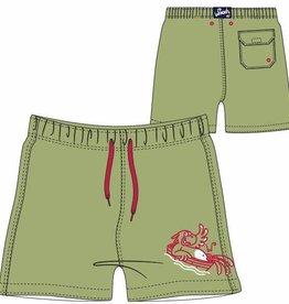 Woody Jongens-Heren zwembroek, limoen groen