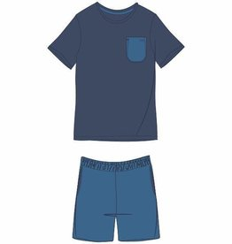Woody Heren pyjama, donkerblauw