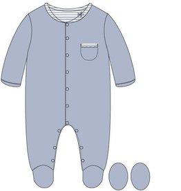 Woody Jongens romper, cashmere blue