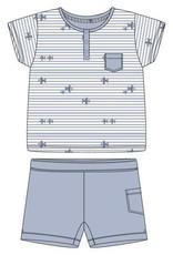 Woody Jongens pyjama, blauw vliegtuigjes all-over print