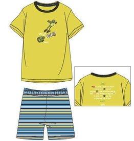Woody Unisex pyjama, fel geel