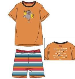 Woody Unisex pyjama, oranje