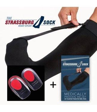 The Strassburg Sock Strassburg Sock Zwart met Gelhakken