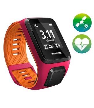 TomTom TomTom Runner 3 Cardio GPS Sporthorloge (Roze/Orange)