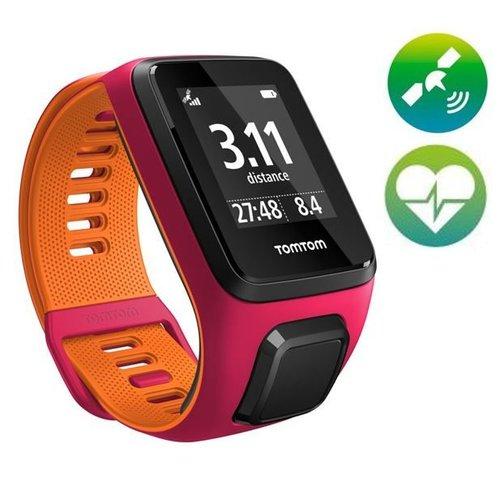 TomTom Runner 3 Cardio GPS Sporthorloge (Roze/Orange)
