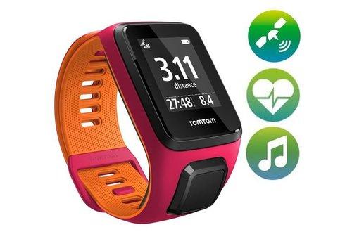 TomTom TomTom Runner 3 Cardio Music GPS Sporthorloge (Roze / Oranje)