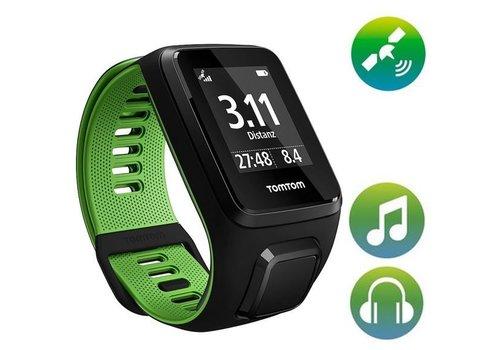 TomTom TomTom Runner 3 Music GPS Sporthorloge + Bluetooth Headphones (zwart / groen)