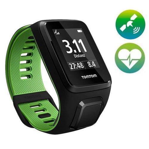 TomTom Runner 3 Cardio GPS Sporthorloge (zwart / groen)